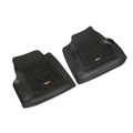 Floor Liners, Front, Pair, Black; 97-06 Jeep Wrangler TJ - Rugged Ridge