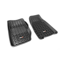 Floor Liners, Front, Black; 84-01 Jeep Cherokee XJ - Rugged Ridge