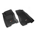 Floor Liners, Front, Black; 99-04 Jeep Grand Cherokee WJ - Rugged Ridge