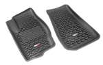 Floor Liners, Front, Black; 07-12 Caliber/07-16 Jeep Compass/Patriot - Rugged Ridge