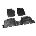 Floor Liners, Kit, Black; 07-16 Jeep Wrangler Unlimited JK - Rugged Ridge
