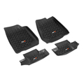 Floor Liners, Kit, Black; 07-16 Jeep Wrangler JK - Rugged Ridge