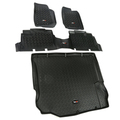 Floor Liners, Kit, Black; 11-16 Jeep 4-Door Wrangler JK - Rugged Ridge