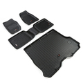 Floor Liners, Kit, Black; 84-01 Jeep Cherokee XJ - Rugged Ridge