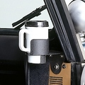 Cup Holder Windshield Mount; 76-95 Jeep CJ/Wrangler YJ - Rugged Ridge