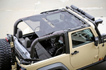 Eclipse Sun Shade, Black; 07-16 Jeep Wrangler JK, 2 Door - Rugged Ridge