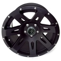 XHD Wheel, 17x9, Black Satin; 07-16 Jeep Wrangler JK - Rugged Ridge