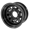 D Window Wheel, 15x8, Black, 5x4.5 - Rugged Ridge