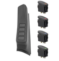 A-Pillar 4 Switch Pod Kit, Black; 11-16 Jeep Wrangler JK, LHD - Rugged Ridge