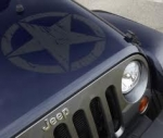 Wrangler Freedom Edition Star Hood Decal 68190739AA