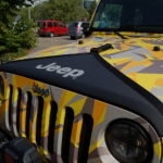 MOPAR Black Hood Cover with Jeep Logo Jeep Wrangler JK