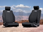 JEEP SEAT COVERS BLACK WET SUIT FRONT MOPAR (82210331AB)