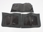 WRANGLER JKU 3 WINDOW KIT 07-10, TINTED BLACK SOFT TOP