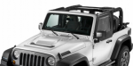 Jeep Wrangler Front Upper Door Windows Black Set 2