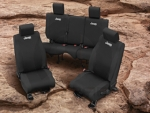 JEEP REAR SEAT COVERS BLACK WET SUIT W/O HEADREST COVERS - MOPAR (82212230AB)