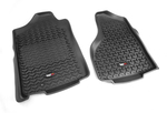 Floor Liners, Front, Black; 02-11 Dodge Ram 1500/2500/3500 - Rugged Ridge