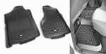 Floor Liners, Kit, Black; 02-14 Dodge Ram 1500/2500/3500 Quad Cab - Rugged Ridge