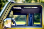 WRANGLER BLACK SIDE SUN VISOR SET 2 EKLIPS 5201