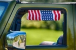 WRANGLER EKLIPS AMERICAN FLAG SIDE SUN VISOR SET 2 EKLIPS 5203