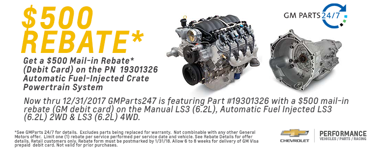 $2000 rebate at GM Parts 247