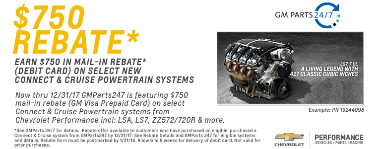 $750 Rebate from GM Parts 24/7