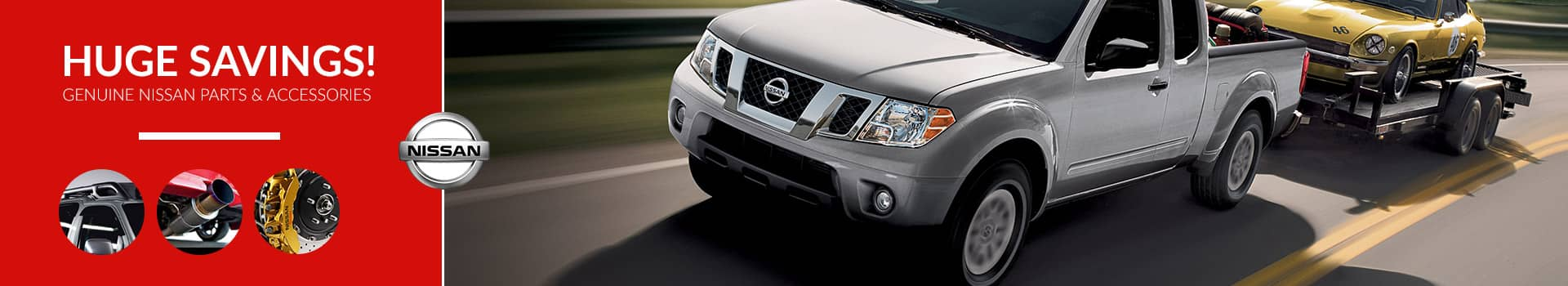 Save on Nissan parts and accessories