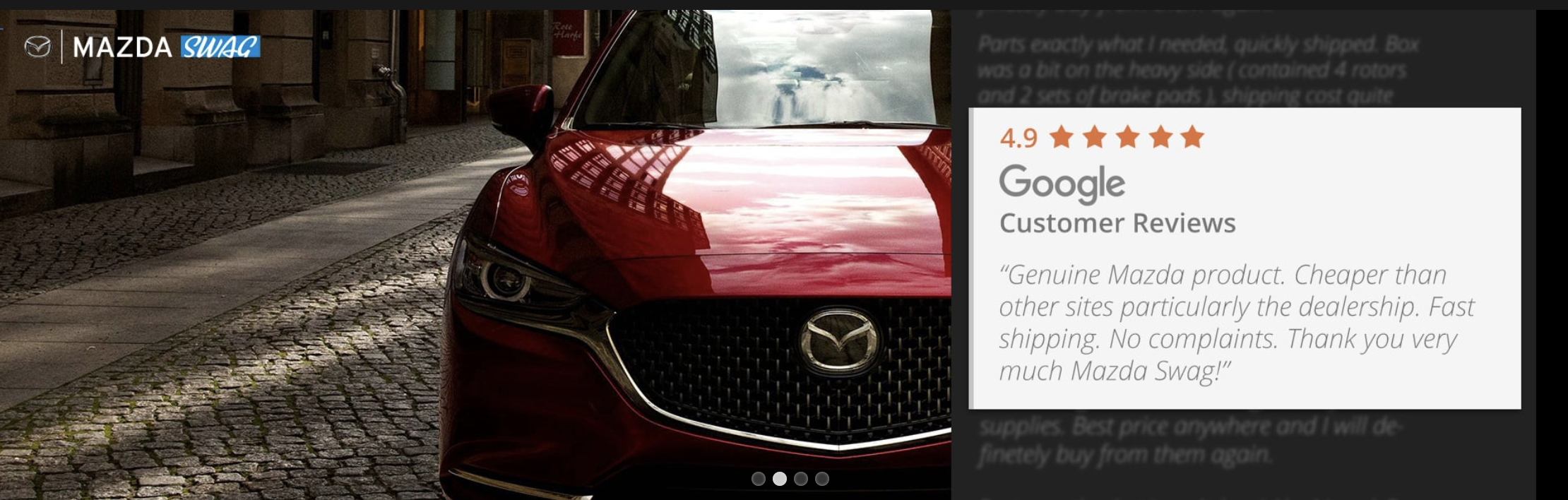how could buying mazda parts & accessories online improve? - 2004 to