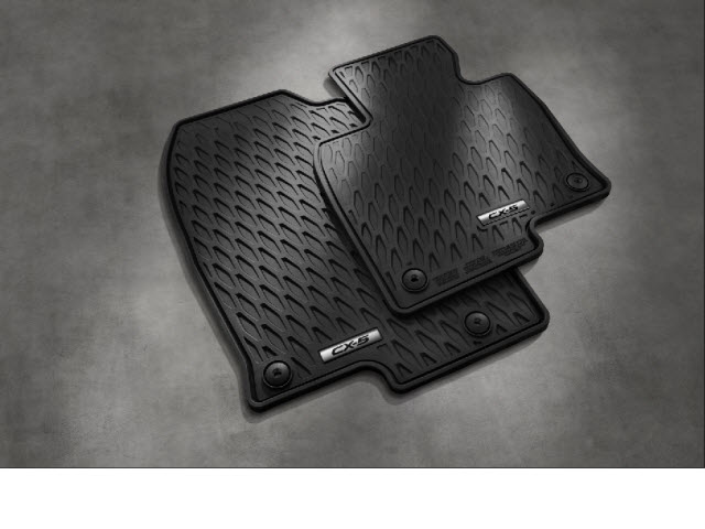 Genuine Floor Mat Rubber All Weather (2017-newer CX-5, Set of 4)   ( IN STOCK NOW )