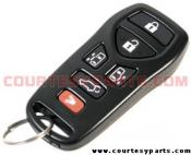 Nissan 6 Button Keyless Remote - 2004 to 2009 Quest SE