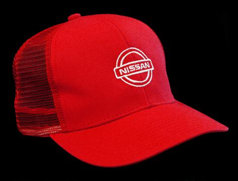 Red Mesh Nissan Hat
