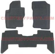 Nissan Rubber Floor Mats (3-pc set) in charcoal color - 2008 to 2009 Pathfinder