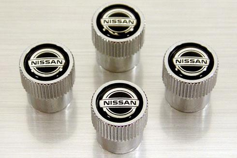 Nissan Tire Valve Stem Covers With Nissan Logo