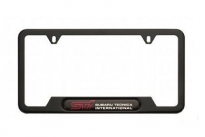 GENUINE SUBARU STI BLACK LICENSE PLATE FRAME