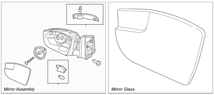 Mirror assembly glass