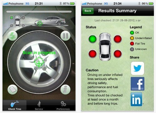 TireCheck App for iPhone