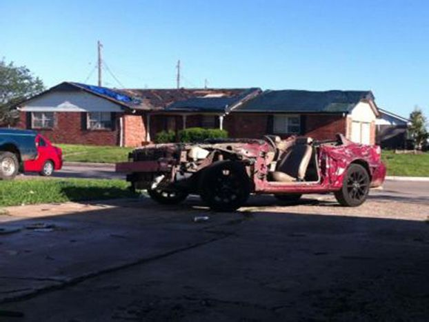 Tornado-Damaged Ford Mustang Still Starts, Drives - Exterior