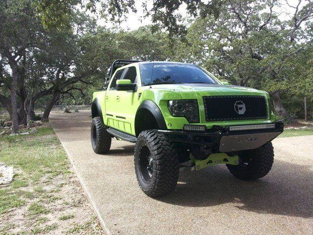 Lambo Green Ford Raptor Mod - Front Profile