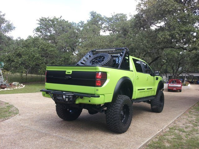 Lambo Green Ford Raptor Mod - Rear