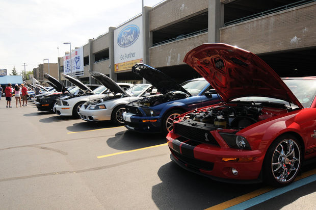 2013 Woodward Dream Cruise Mustang Alley - Photos and Video
