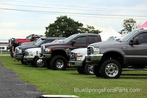 Newer Ford trucks at 2013 Carlisle