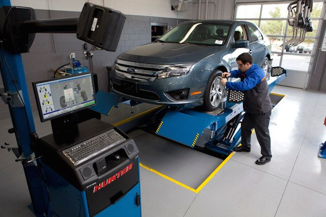 Wheel alignment process