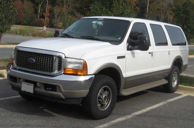 White ford excursion