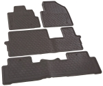 2009-2015 Honda Pilot All Season Graphite Black Floor Mat, 08P13-SZA-110