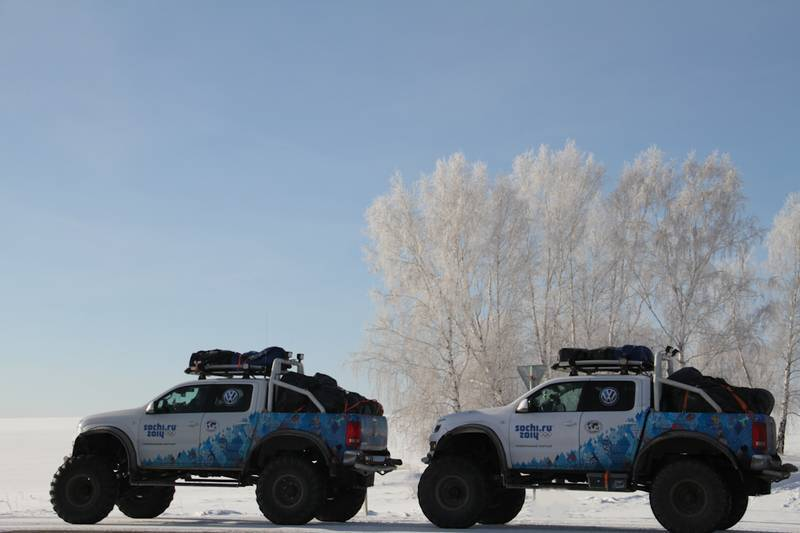 Two Amarok Polar Expedition Trucks