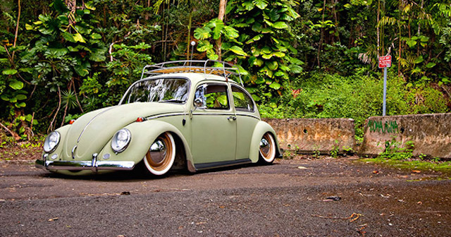 VW Bug lowered
