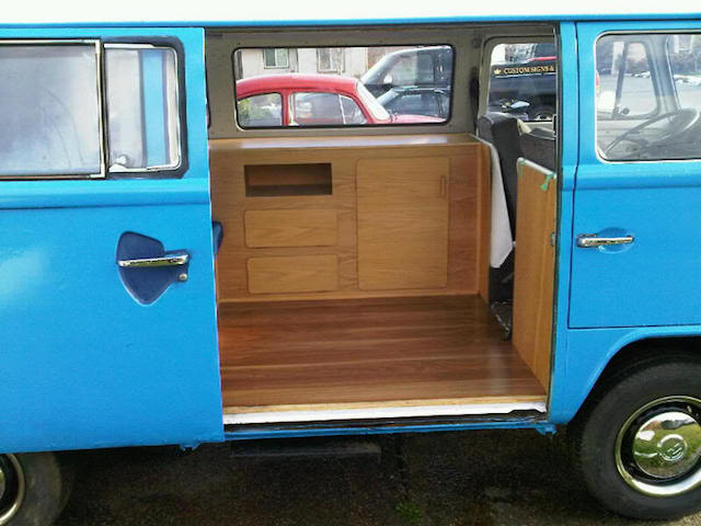 If One Were So Inspired, They Could Live In This Bus And Travel Around The  Country. VW Interior 6