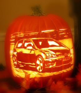 vw golf pumpkin
