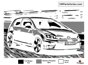 vw golf pumpkin pattern