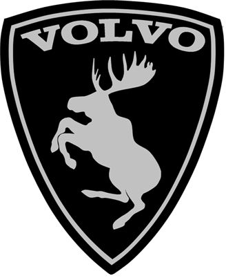 Prancing moose sticker volvo flag sticker myswedish