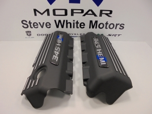 Challenger Charger Engine Cover Valve 5.7L 345 Hemi Mopar 2Pcs Carbon Fiber Blue